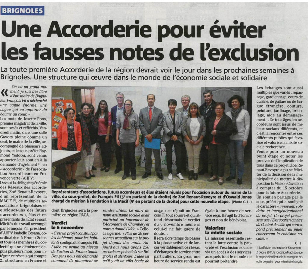 article Var Matin 8 octobre 2015