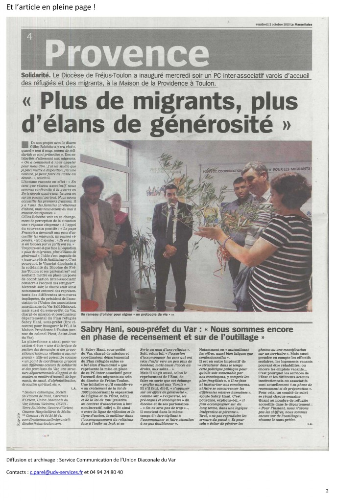 inauguration pc migrants marseillaise 2 oct 2015